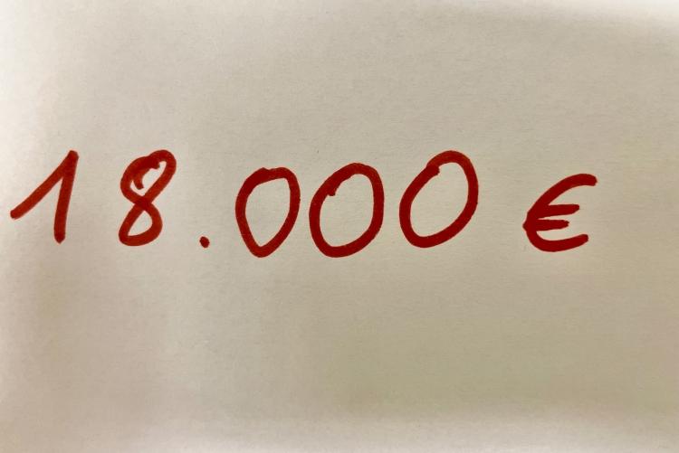 18.000€ Spenden